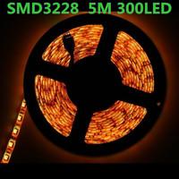 100pcs 5m 300 LED 3528 SMD 12V flexible light 60 led/m, NON-WATER PROOF LED strip white/warm white/blue/green/red/yellow
