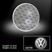 2 Pcs VW Badge 2D Logo Emblem LED Baseplate White Lights / Blue Lights / Red Lights Car Rear Light CC Glft 5 6 7 Tiguan DC 12V