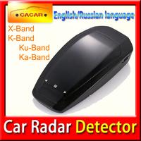New 2015 cobra car radar detector full band high performance Russian & English Language Anti Radar Free shipping