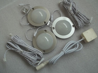 Nice DC 12v 3pcs/lots 1.7W 110LM with 21pc 3528 type leds,LED Puck/Cabinet Light,LED spotlight +1pc connector wire