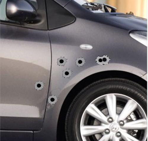Bullethole Shothole Orifice Sticker Graphic Shothole For Car Auto Windows GrayFree Shipping(China (Mainland))