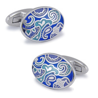 Oval cufflinks french style shirt nail sleeve male men's cuff