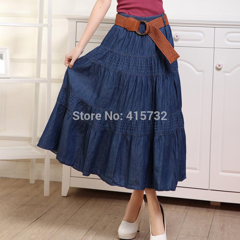 משלוח חינם הגעה החדשה של האביב 2016 זמן טול שכבות של חצאיות מקסי קפלים חצאיות לנשים שחור עם קו מותן חצאית לנשים