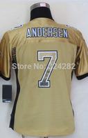 2014-15 Stitched - 7 Morten Andersen Women's Drift Fashion Gold Elite Football Jerseys size: S-XXL