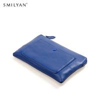 Smilyan genuine leather envelope clutch bag women wallet coin purses brand purse and handbags evening wallets bolsas clutches