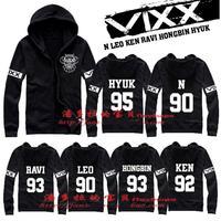 VIXX N LEO HONGBIN Hong Bin RAVI KEN HYUK ball number Hoodie Sweatshirts kpop bts