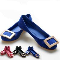Big Size Size 34-43 New Women Flats ShoesSuede Leather Flats Brand Shoes For Women Ladies Flats Shoes Mocassins WF6132