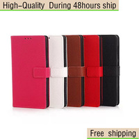 for Microsoft Lumia 535 Litchi Grain Leather Wallet Case Free shipping