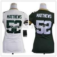 2014-15 Stitched 52 Clay Matthews White/Green Authentic Women Football Jerseys Size:S-XXL