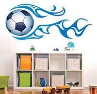 kids boy room removable wallpaper cool football wall sticker sofa bedroom decor