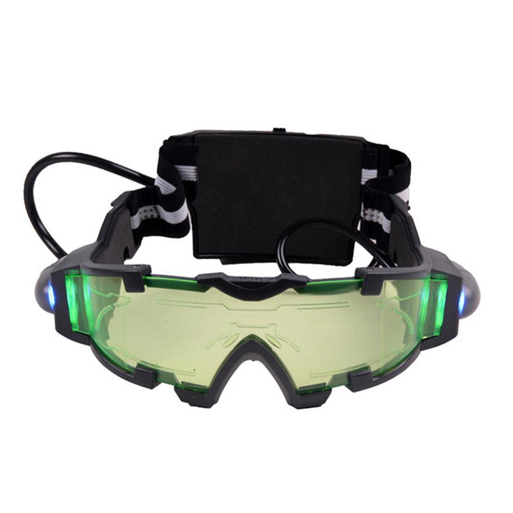 Hot Selling fashion cool Green Lens Adjustable Elastic Band Night Vision Goggles Glasses eyeshield m2(China (Mainland))
