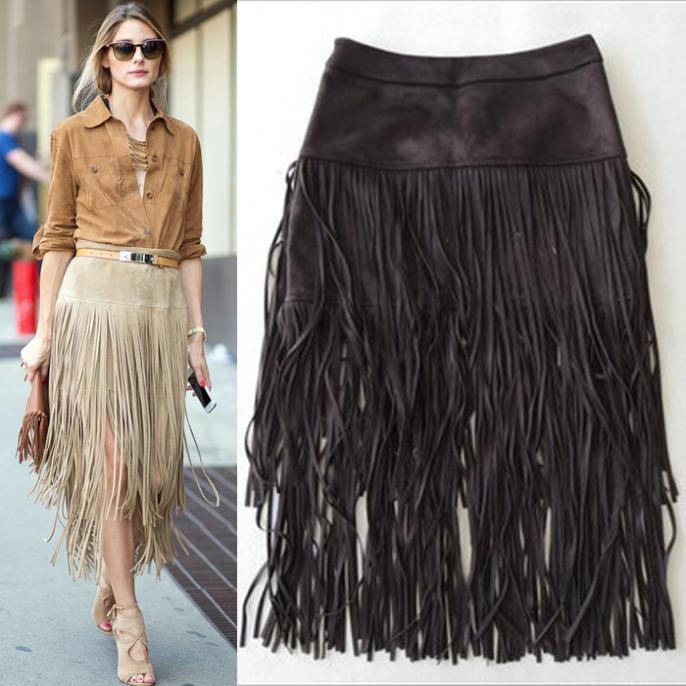 Короткие юбки с бахромой