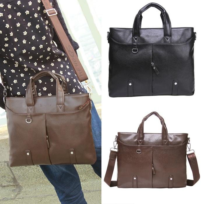 New Arrival High Quality Genuine Leather Brifcase Business Bag Men's Handbags Fashion Messenger Bag Brifcase Laptop Bag(China (Mainland))