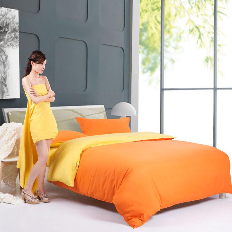 Orange Bed Linen Duvet Covers
