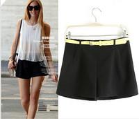 Women's Brand Trendy Shorts With Free Belt Mini Elegant Shorts Spring Summer Tropical Elegant Style Tops