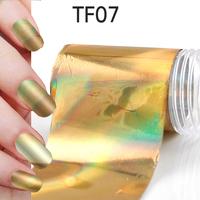 1Pcs New Useful Big size 130*4cm Fashion DIY Gold Nail Art Stickers Polish Foil gel Tips Gitters Decoration Hot Sale 06020301