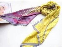 New Fashion Temperament Dot Print Pure Silk Scarf, Women Ladies saqure Scarves Shawl f Autumn Winter,Free Ship!