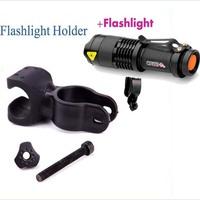 Bright CREE Q5 LED Cycling Bike Bicycle Head light mini Flashlight + Mount