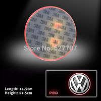 For Volkswagen Badge 2D Logo Emblem LED Baseplate Red Lights Car Rear Light CC Glft 5 6 7 Tiguan DC 12V