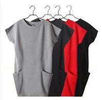 2014 autumn and winter women new arrival fashion elegant slim long-sleeve plus size basic women's one-piece dress
