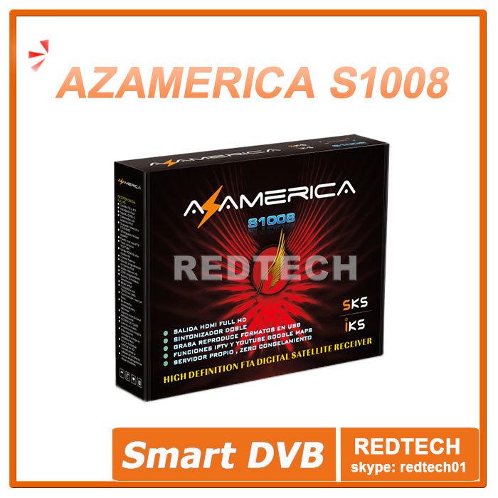 South America Nagra3 Full HD TV Box Receptor Original Azamerica S1008 digital satellite receiver better than az america s1005(China (Mainland))