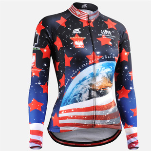 Compression Skin Tights Manufacturers wholesale long-sleeved cycling coat Bike riding jersey(China (Mainland))