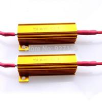 1pairs Auto LED Signal Turn Indicator Fog Light Car Canbus Error Free Led Load 50W 6OHM Load Resistor gold color
