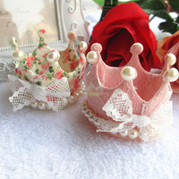 10pcs/lot kids baby girl's hairpins princess Lace Crown hair clips headwear Hair Acessories for Girl's Gift freeshipping