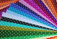 30pcs Printed Polka Dots Felt Fabric - Pre-Cut 30cm x 30cm per sheet - Mix different colors