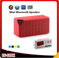 Mini X3 Portable Jambox Style X3 Bluetooth speaker with Mic wireless bluetooth speaker for iPhone Samsung mini speaker FM radio