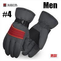 2015 Luxury Quality Men Women Winter Outdoor Sport Mountain Skiing Gloves Windproof Waterproof Warm Snowboard Ski Cycling Gloves