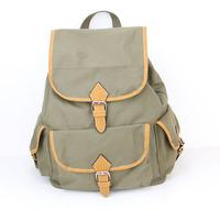 2015 Hot Sale! Fashion canvas backpack women shoulder bags Vintage women backpack Casual women school bag H006 armygreen