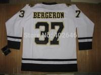 Wholesale Hockey Boston 37# Patrice Bergeron fashion white jerseys, please read size chart before order