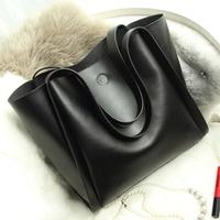 2015 women's winter bag shoulder bag genuine leather handbag cowhide large bag vintage women's handbag