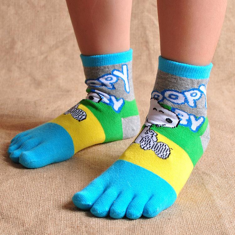 Free shipping cheap 2015 promotion spring auftun winter 100% Cotton toe socks Children cute cartoon kids boys girls tube socks(China (Mainland))