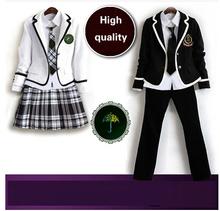 Британский корейский японский школьная форма мужчины и женщины зимняя одежда для школы uniforme эсколар костюм для девочки и мальчик 5 компл.