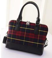 2015 New woman bag women messenger bags shoulder handbag 2 colors fashion lattice wave bag lady bag fashion handbags wholesale