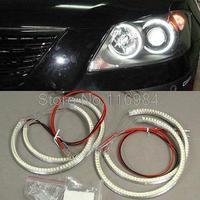 4pcs x LED Angel Eye Halo Ring Xenon Headlight SMD Kit For E36 E38 E39 E46 3 5 7 Series