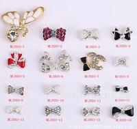 2015 High! 3D 100pcs/lot Alloy 888A Preciosa Cross bow skull butterfly lip nail art nail jewelry for nail gel(ML3500-3549) #