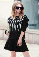 2014 new  fashion autumn and winter plus size loose long-sleeve pullover sweatshirt female   1685