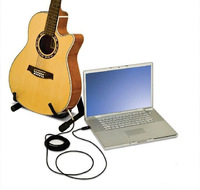 3M Guitar Bass To USB Interface Link Instrument Cable Cord Audio Connection Adapter PC Recording Free Shipping