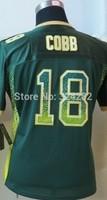 2014-15 Stitched - 18 Randall Cobb Women's Drift Fashion Green Elite Football Jerseys size: S-XXL