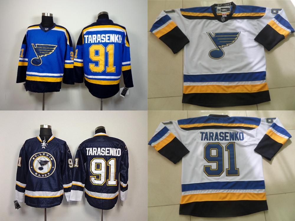 Гаджет  2015 St.louis Blues Jersey Tarasenko #91 Vladimir Tarasenko Jersey Wholesale White Blue hockey jerseys cheap Stitched  None Спорт и развлечения