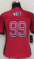 2014-15 Stitched - 99 J.J. Watt Women's Drift Fashion Red Elite Football Jerseys size: S-XXL