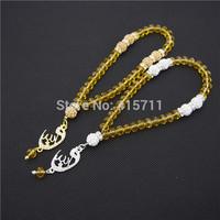Topz Crystals Rondelles  Islamic Muslim Prayer Beads Tasbih 33beads Allah Misbaha Sibha   L150113008