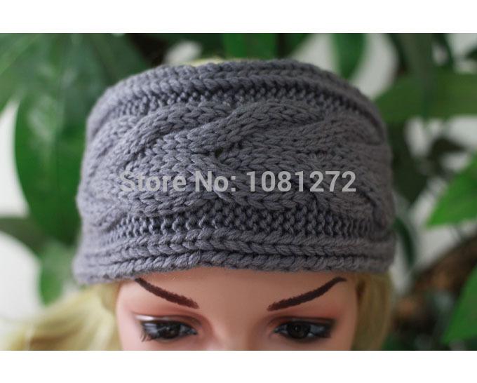 Gray Knit Headband,Cute Turban Headband,Earwarmer,Hair Accessories,Head wrap,headband pattern,Fall and winter hair accessory(China (Mainland))