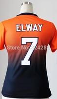 2014-15 Stitched - 7 John Elway Women's Drift Fashion Blue/Orange Elite Football Jerseys size: S-XXL