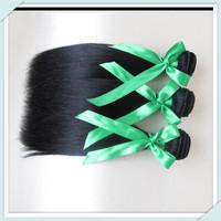 beauty hair forever unprocessed brazilian virgin  hair brazilian silky straight hair longqi remy hair100g 3PCS color#1b