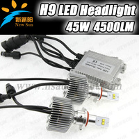 CE & ROHS verified Factory sale 3000K/4000K/5000K/6000K color provide LED headlight H9 H8 H11 45W 4500LM with 4 Ph ilips led