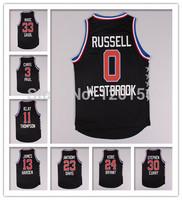 Basketball 2015 All Star Game Jersey Basketball Jerseys Black  Jerseys  RUSSELL Curry Durant Sport Shirt S-XXXL